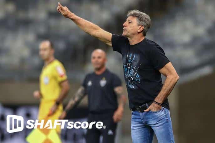Renato Gaúcho comandando o Grêmio no Brasileirão