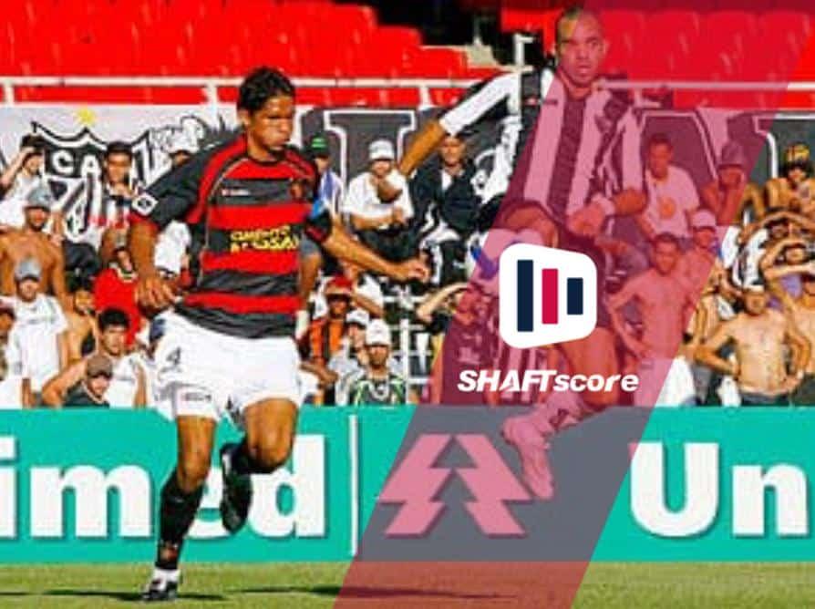 Disputa de bola entre Atlético-MG e Sport.