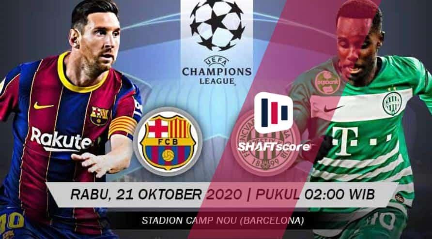 Barcelona x Ferencvárosi prontos para estreia na Champions