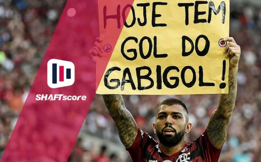 Uma das comemorações dos gols do Gabigol