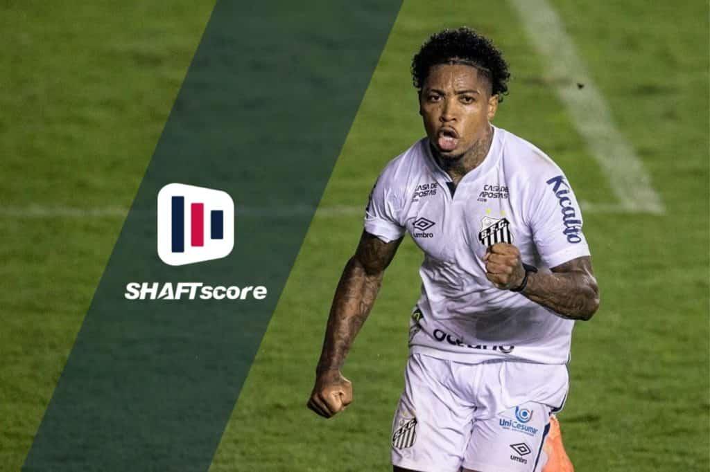 Marinho comemorando um gol pelo Santos