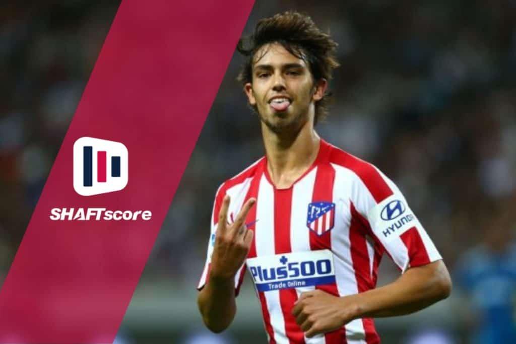 Um dos gols do João Félix pelo Atlético Madrid (CHARLIE CROWHURST/INTERNATIONAL CHAMPIONS CUP/GETTY IMAGES)