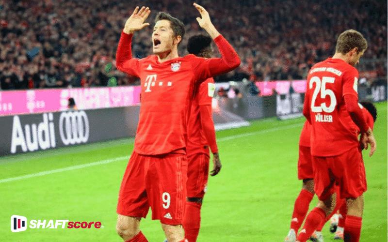 levandowski comemorando gol - Assistir Bundesliga
