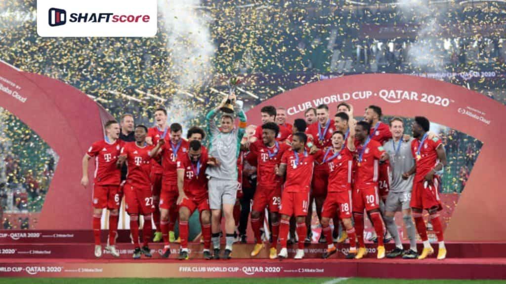 Jogadores do Bayern comemora o título do Mundial de Clubes da FIFA