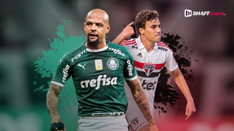 Jogadores do São Paulo e Palmeiras
