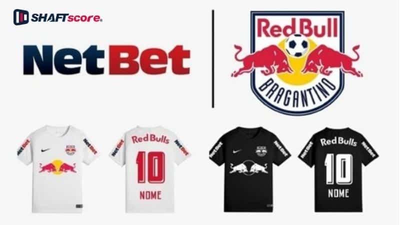 Logo Netbet ao lado do Red Bull Bragantino.