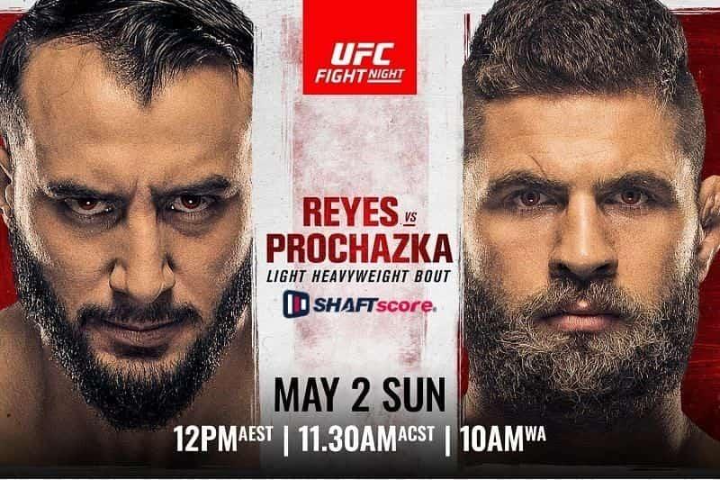 Reyes x Prochazka UFC Vegas 25