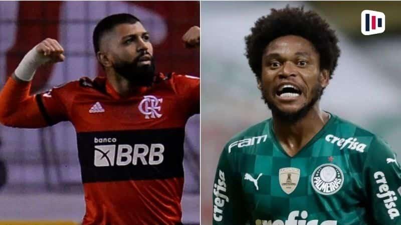 Gabigol e Luiz Adriano - Campeonato brasileiro - Flamengo x Palmeiras