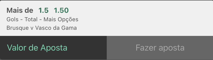 Bilhete pronto, palpite de hoje Brusque Vasco gols bet365.