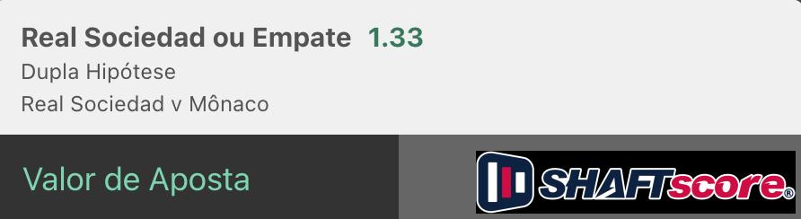 Bilhete pronto, palpite hoje Palpite Real Sociedad Monaco aposta dupla bet365.