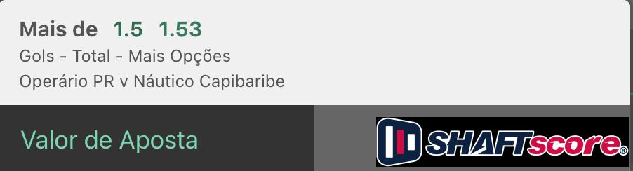 Bilhete pronto, palpite hoje Operário Ferroviário Náutico aposta gols bet365.