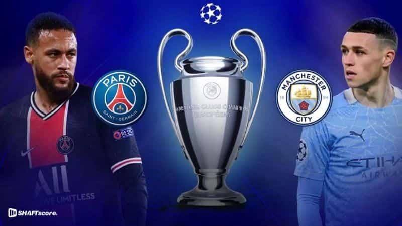 Palpite e prognóstico PSG Manchester City, dicas de apostas esportivas online Bet365.