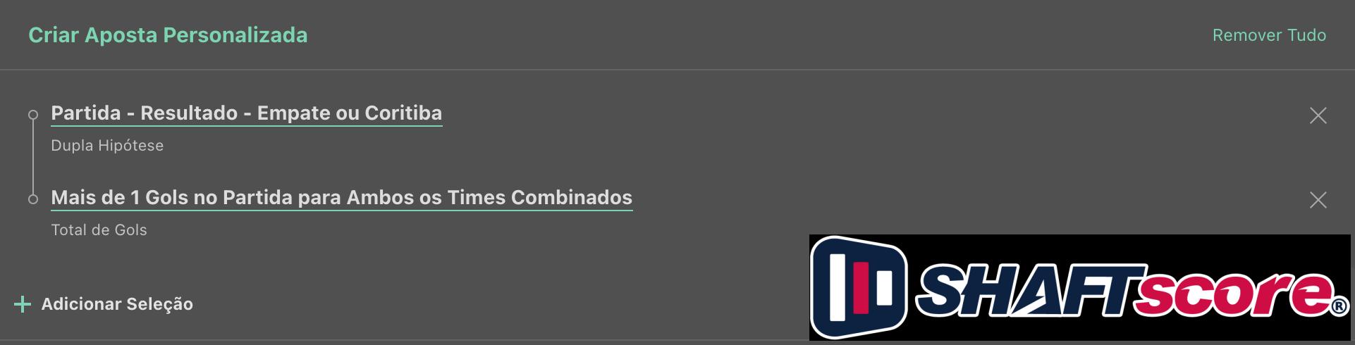 Bilhete pronto, palpite hoje Remo Coritiba, aposta dupla bet365.