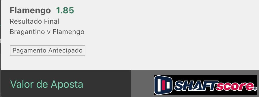 Bilhete pronto, palpite hoje Red Bull Bragantino Flamengo aposta resultado final bet365.