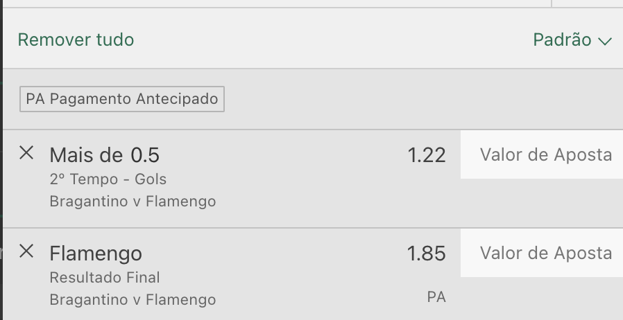 Bilhete pronto, palpite hoje Red Bull Bragantino Flamengo aposta dupla bet365.